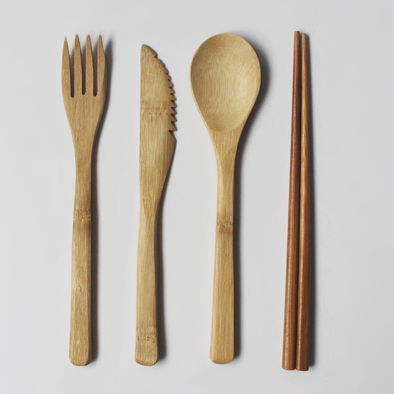 bamboo tableware set