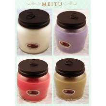 Wedding Decorative Soy Candles in Clear Glass Jar