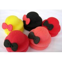 O rolo de cabelo em forma de chapéu mais quente faça você mesmo com o modelador de cabelo esponja
