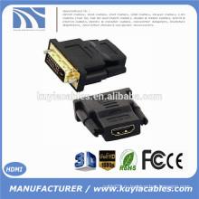 Новый DVI 24 + 1 Мужской к HDMI Женский конвертер HDMI к DVI адаптер Поддержка 1080P для HDTV LCD, Опт