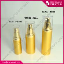 Atacado Cosmetic Gold Alu Airless bomba de garrafa