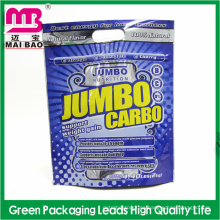 Bolso plástico modificado para requisitos particulares del empaquetamiento Ziplock del papel de aluminio para la comida con la suspensión