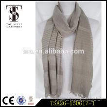 Bufanda de los hombres del estilo simple de la raya de la tela reversible de la impresión del poliester de la impresión digital