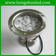 Stainless 9w led underwater fountain light projecting flowing DMX512 long lifetime