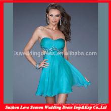 HC4275 The Whole Sale A LIne Sleeveless Sweetheart Chiffon Crystal Diamond Royal Blue Corset Evening Dress Bustier