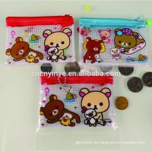 Popular mini impreso barato promoción monedero de plástico