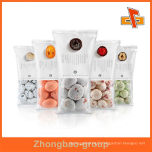 central seal 3 layers laminated plastic bags packaging for snacks