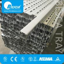 Unistrut P1001 acero inoxidable 316 304 aluminio GI pre-galvanizado CU canal estructural (UL cUL NEMA IEC SGS ISO CE)
