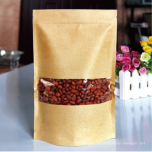 Kraft-Gewohnheit druckte transparente Taschen mit Reißverschluss für die Lebensmittelverpackung mit Fenster