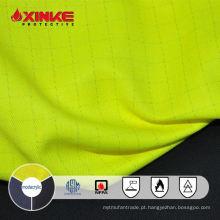 NFPA 2112 Hi vis Amarelo permenent resistente à chama FR AS Modacrílico tecido de algodão