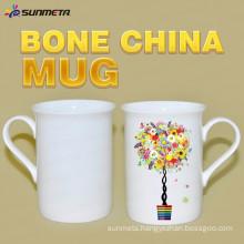 High Quanlity 10oz sublimation white bone china mug for wholesales