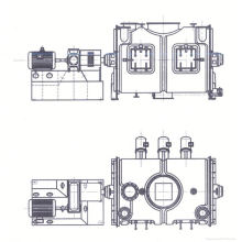 2017 LDH series coulter type mixing machine, SS high shear mixing, horizontal double cone mixer principle