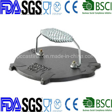 Nonstick Cast Iron Pig Meat Press 7′′ China Factory