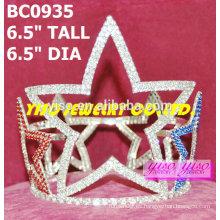 Estrella concurso de belleza coronas redondas y tiaras