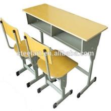 Luoyang Fabrik customerized Schulmöbel Studenten Schreibtisch und Stuhl