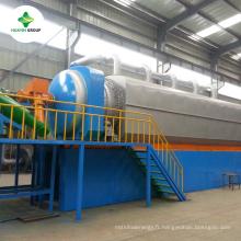 Nouvelle condition Complète utilisé usine de pétrole de pyrolyse de pneu avec de haute qualité et le prix des avantages