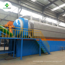 Hot selling ! waste tyres plastic rubber recycling pyrolysis to oil plant with continuous system