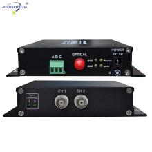 Наблюдательный 2ч контроль оптической видеонаблюдения видео-Приемопередатчик волокна