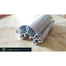 Fruther Verarbeitung Aluminiumprofil mit eloxiertem Silber