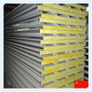 ISO-Zertifikat Feuerfest Glaswolle Sandwich Panel für Dach