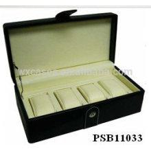 Neue Ankunft Leder Uhrenbox für 4 Uhren Großhandel aus China Fabrik