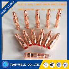 Acessórios de soldagem tig 10n30 1.0mm acessórios collet body
