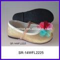 SR-14WFL2225 la flor linda al por mayor embroma el zapato ocasional del cabrito del zapato del cabrito de los zapatos para las muchachas