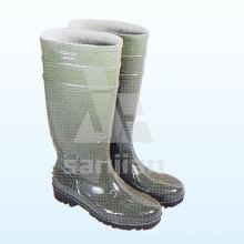 Jy-6241 Modische Damen Kunststoff Transparente Regen Stiefel