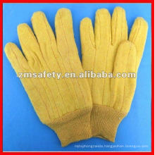 Durable cotton hot mill glove