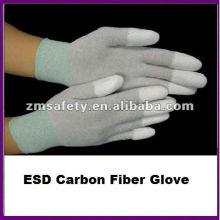 Gant en fibre de carbone enduit ESD PU Fingertip
