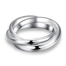 Простой Три Круга Кольцо Посеребренные Ювелирные Изделия Кольца