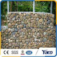 Grillage galvanisé pour la clôture avec des pierres, boîte de gobion