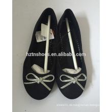 Klassische Ballett flache Schuhe mit Bogen Frauen niedrige Ferse Schuhe