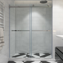 Seawin Fully frameless Enclosed Small Square 2 Sided glass shower Sliding Doors
