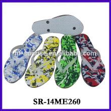 2014 latest design flip flops man slipper