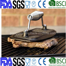 Customized Preseasoned Cast Iron Burger Press China Factory