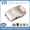 Компьютер VGA к AV RCA TV-монитор S-Video конвертер преобразователя сигнала Переключатель Box ПК Ноутбук