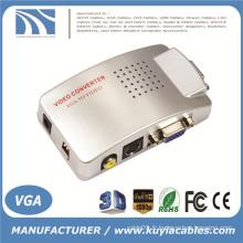 Ordinateur VGA vers AV RCA TV Moniteur S-Video Signal Converter Adaptateur Switch Box PC Laptop