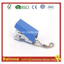 Blue Mini Metal Stapler with Key Chain