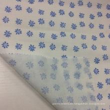 Ramio / algodón mezclado impresión Floral de tela para la ropa / Textiles para el hogar