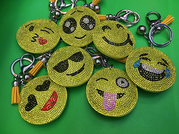 Smile key chain