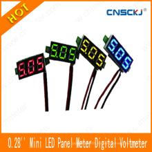 """Mini Panel Voltmeter DC 2.50-30V Светодиодный цифровой измеритель напряжения напряжения Красный 0,28 """""""