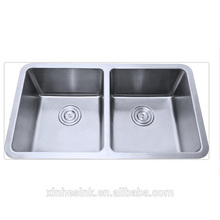 stainless steel undermounted double sink
