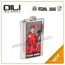 8oz russian market cheap stainless steel hip flask