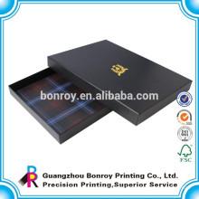 черная карта упаковка бумажной коробки ювелирных изделий