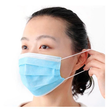 Adult Blue 3 Ply Face Mask Einweg