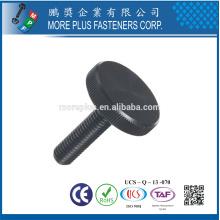 Fabriqué à Taiwan Acier Vis à molettes en poudre Vis à tête plate Oxide noir