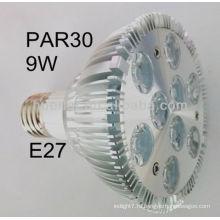Шэньчжэнь производитель высокое качество 100-240v B22 E26 E27 9w Par30 привело прожектор par30 9w