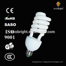 T4 25W moitié spirale lampe fluorescente compacte ampoule 10000H CE qualité