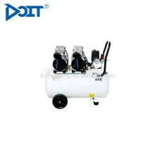 DT600H-50 preço de compressor de ar silencioso isento de óleo de dupla cabeça